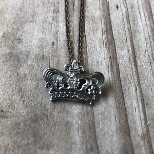 Mignon Faget signed crown pendant with chain